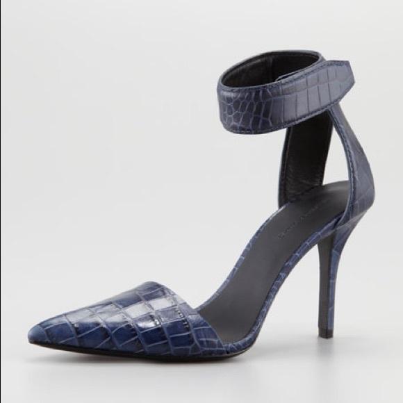 website for discount premium selection new items Alexander Wang Liya Pump Lapis Croc Heels pumps